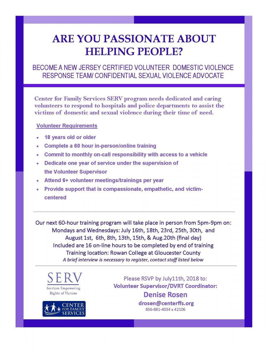Gloucester County Volunteer Advocate Training Program