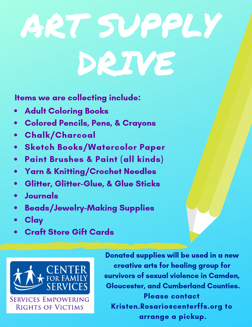 Art Supply Drive Center For Family Services